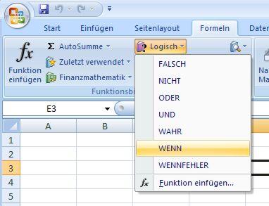 Excel - Wenn Funktion - Formeln