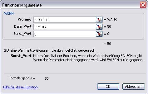 Excel - Wenn Funktion - Assistent