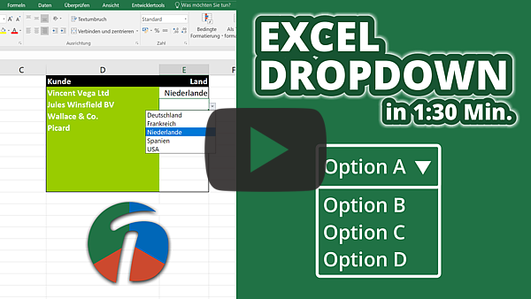 Excel Dropdown Liste Erstellen Am Beispiel Erklärt Einfach Und