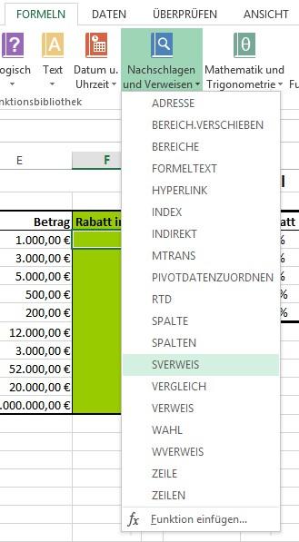 Sverweis Funktion Für Rabatte In Excel Verwenden Beispiel