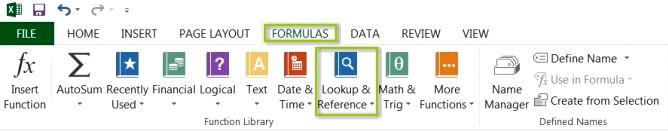 Excel VLOOKUP Ribbon