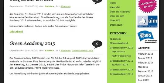 Green Academy - Startseite
