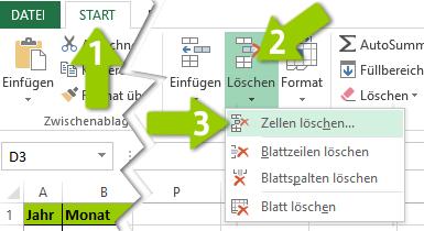 Excel - Leere Zeilen löschen
