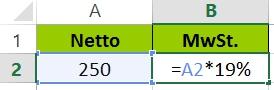 Excel Prozent - Funktion