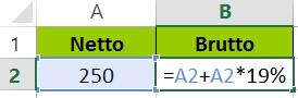 Excel Prozent addieren - Formel