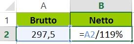 Excel Prozent Rückwärts - Formel
