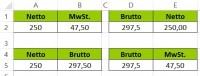 Prozentrechnung mit Excel