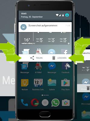 OnePlus 3 - Screenshot teilen oder löschen