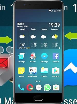 Screenshot mit dem OnePlus 3
