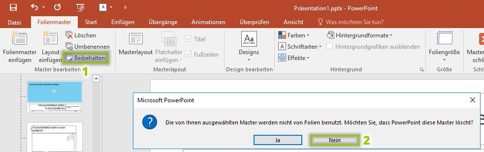 Powerpoint Folienmaster übernehmen Und Verwenden Einfach Erklärt
