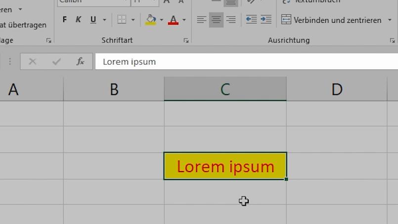 Excel - Inhalte und Formate löschen-01