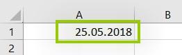 Excel - Datum richtig eingeben