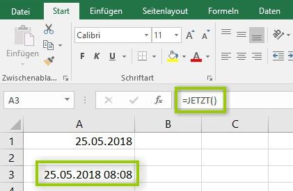 Excel Uhrzeit - Dynamisch